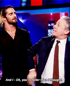 Seth Rollins of WWE visits Jon Stewart on the Daily Show