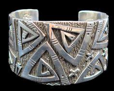 Sterling Silver Three Layer Eternity Bracelet by Kee Yazzie, Jr. (#62)