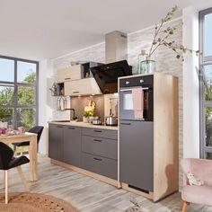 Küchenblock in Anthrazit und Eiche online entdecke How To Plan, Home Decor, Drawers, Oak Tree, Ad Home, Timber Wood, Interior Design, Home Interior Design, Home Decoration