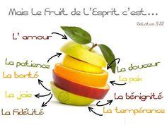 Galates 5:22-23 Mas el fruto del Espíritu es amor, gozo, paz, paciencia, benignidad, bondad, fe, mansedumbre, templanza; contra tales cosas no hay ley. ♔
