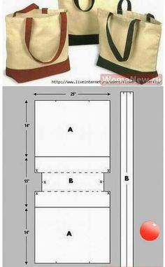 Sewing Hacks, Sewing Tutorials, Sewing Projects, Sewing Diy, Bag Tutorials, Diy Couture, Bag Patterns To Sew, Sewing Patterns, Easy Patterns