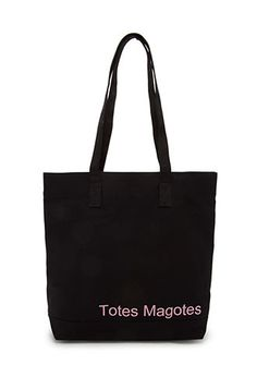 Conversation-Starting Canvas Tote | FOREVER21 - 1000090757 Totes have a lot of #personality =)