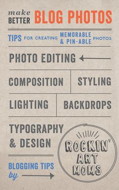 Tips for taking awesome blog photos *great list of ideas