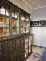 The plate cupboard in the kitchen of the Historic Hotel Apeiros Chora in Kato Pedina