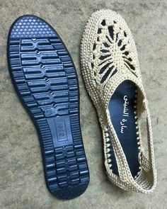 Idea for crochet slingback on to existing sole