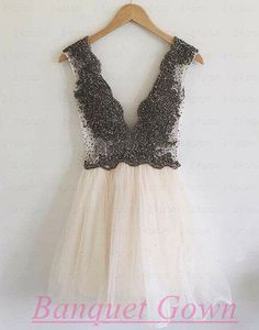 V-Neck Homecoming Dresses,Sexy Homecoming Dresses,Popular Homecoming…