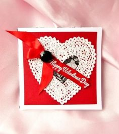 Handmade Valentines Card by ScrappyNan on Etsy 450  Etsy Finds