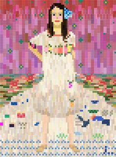 Portrait of Mada Primavesi Gustav Kilmt x joojaebum(pixel art)