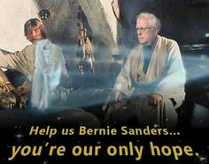 Two of my favorite things... Star Wars and Bernie Sanders.