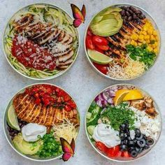 Grilled Chicken Meal Prep Bowls 4 Creative Ways for Clean Eating!  <br> Ready to work your meal prep muscles!? These are SIMPLE, SO TASTY and Clean Eating Approved. Try these Grilled Chicken MealPrep Bowls 4 Creative Ways. 🏆 1. Italian Zoodles Grilled Chicken Bowl 🍅💪🍝 Delicious Meal Prep Bowl idea #1 of 4 coming at you now! Read the recipe for my tips to PREVENT... Healthy Meal Prep, Healthy Eating, Healthy Recipes, Eating Clean, Healthy Food, Meal Prep For The Week Low Carb, Eat Clean Recipes, Easy Recipes, High Protein Meal Prep