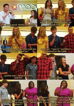 The cast on what happened when they found out they got the part #Glee