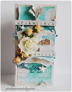Made by Groszek: Turkusowy i brzoskwiniowy/turquoise & peach