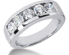 0.90ct Diamond Twist Wedding Band Channel Set Wave by JewelryPoint