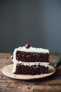 Chocolate hazelnut cake with vanilla hazelnut buttercream