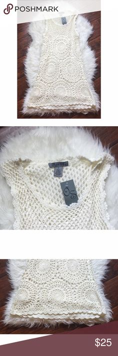 💝Off White Lacey Dress💝 Super cute Lacey Dress. Can be used for cover up or just like that. Has a underskirt. 💝👗 Olivia Sky  Dresses Mini