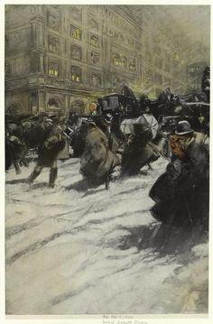 Everett Shinn - Winter, New York City,
