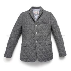Moncler Gamme Bleu by Thom Browne Quilted Tweed Blazer