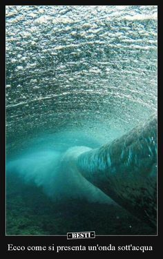 waves under the water Image Nature, All Nature, Amazing Nature, No Wave, Water Waves, Sea Waves, Sea And Ocean, Ocean Beach, Cool Photos