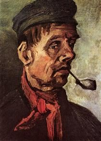 Head of a Peasant with a Pipe - Vincent van Gogh