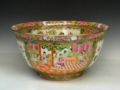 A Chinese Famille Rose Porcelain Bowl, Qing Dynasty, Size: D 44cm