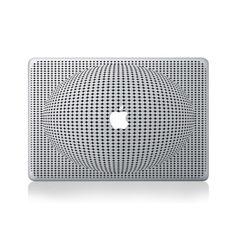 Optical Illusion Sphere Vinyl Macbook Sticker Cover