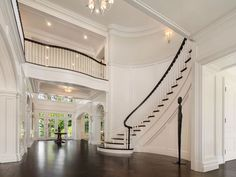 6 Carriage Trail Tarrytown, NY 10591 is for sale. Just 13 miles from NYC, in the prestigious Greystone on Hudson enclave, this magnificent stone manor Grand Staircase, Stairs, Stair Gallery, Window Design, Historic Homes, Estate Homes, Curb Appeal, Building A House, House Plans