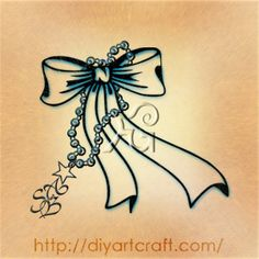 Necklace with pendant and ribbon BSA #tattoo