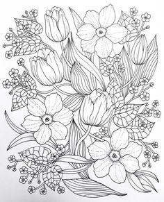 Die 209 Besten Bilder Von Malvorlagen Blumen Coloring Pages Of