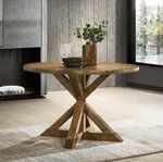 Trestle Dining Tables, Round Dining Table, Table And Chairs, Kitchen Nook, Chair Bench, Wood Veneer, Wood Species, Natural Wood, Solid Wood