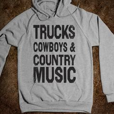 Trucks Cowboys County Music (Hoodie)!!