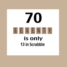 70th Birthday Card, Milestone Birthday, 70th Birthday, Scrabble Birthday Card, Scrabble, The Big 70 by DaizyBlueDesigns on Etsy