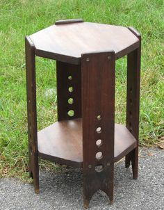 Great Period Vintage/ Antique Mission Arts & Crafts Octagon Plant Stand Tabouret