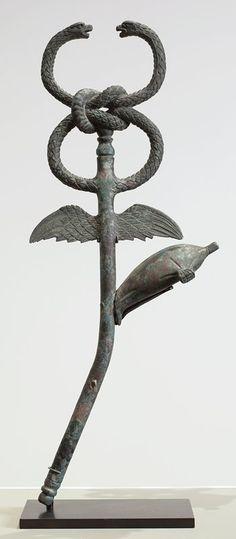 Caduceus                         Artist Unknown (Roman)       (Roman, Continent Unknown), 2nd century                                    Bronze