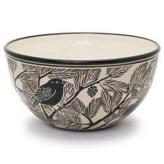 Katherine Hackl (Lambertville NJ) - porcelain, sgraffitto