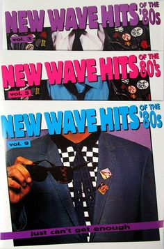 New Wave Hits of the 80's Just Can't Get Enough Vol 3 5 9 Rhino LOT Duran Duran #newwavehits #rhino #80s #music