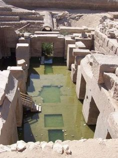 """The Osirion, also known as """"The Tomb of Osiris"""". Attributed to Seti I, is located near his temple at Abydos and believed to have been constructed during the 18th dynasty. A unique structure in egyptian architecture, bearing resemblance to the Old Kingdom Valley and Sphinx Temples at Giza, there remains disagreement as to its true age and function. It is the only egyptian temple to have been built below ground."""