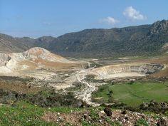 Nisyros Island- Greece - volcano Volcano, Grand Canyon, Greece, Island, Mountains, Nature, Travel, Greece Country, Naturaleza