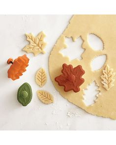 The perfect pie crust cutters for fall! Get them here: http://www.bhg.com/shop/williams-sonoma-fall-leaf-piecrust-cutters-set-of-3-p521b6c9ce4b05805965bfe81.html