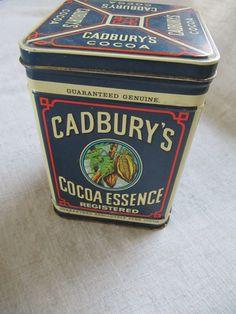 Vintage Cadbury Tin  Cadbury's Cocoa Essence by VintageDelight374, $14.00