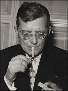 Shostakovich, 1958, Photo Greta Robok