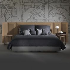 Double bed / contemporary / with storage / with headboard EDEN FLEXFORM