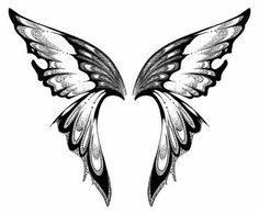 Free Printable Fairy Stencils | Butterfly tattoo stencil 7 (click for full size)