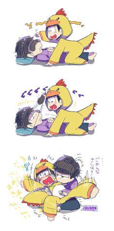 おそ松さん Osomatsu-san 一松&十四松 donnosukemikodon:  アイマスクが気になる十四松
