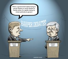 "Harper on #Harper: ""You've lost your moral authority to govern."" #elxn42 #Cdnpoli #Harper"