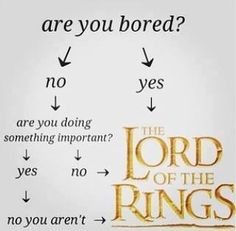 Lord of the Rings is always a good idea.
