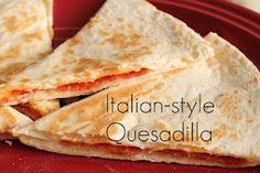 Italian-style quesadilla