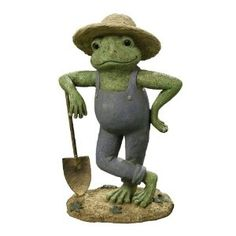 The frogs are thinking about spring and gardening...