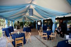 Tented patio at the Carriage House at Magnolia Plantation | Designed by Engaging Events | Charleston SC Wedding