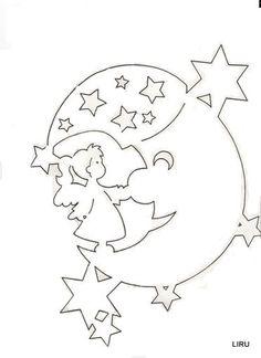 ángel en la luna
