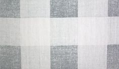 Check Linen Fabric Printed large gingham check in blue on cream linen.